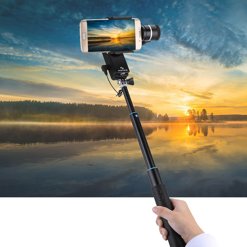 New Arrival Feiyu SmartStab 2-Axis Steady Handheld Gimbal Selfie Gimbal Can be Wearable for Smartphones Such as for iPhone Samsung Xiaomi Compatible