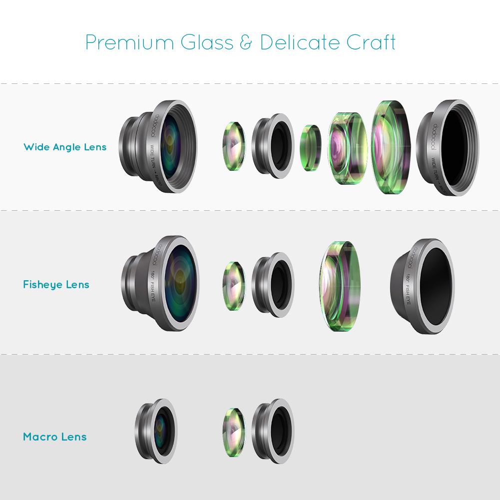 3 In 1 Universal Clip Lens Fisheye Macro Wide + FREE Tempel Gurita .