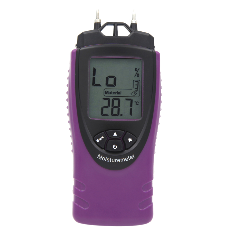 Professional Handheld Digital Moisture Meter Humidity Tester for Wood Concrete LCD Display Mini H10198