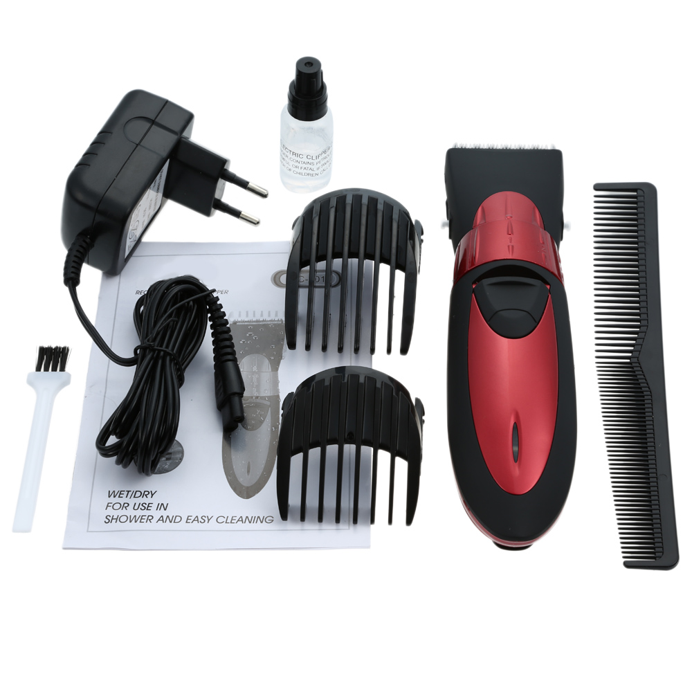 rechargeable electric waterproof hair beard and mustache trimmer clipper q4du ebay. Black Bedroom Furniture Sets. Home Design Ideas