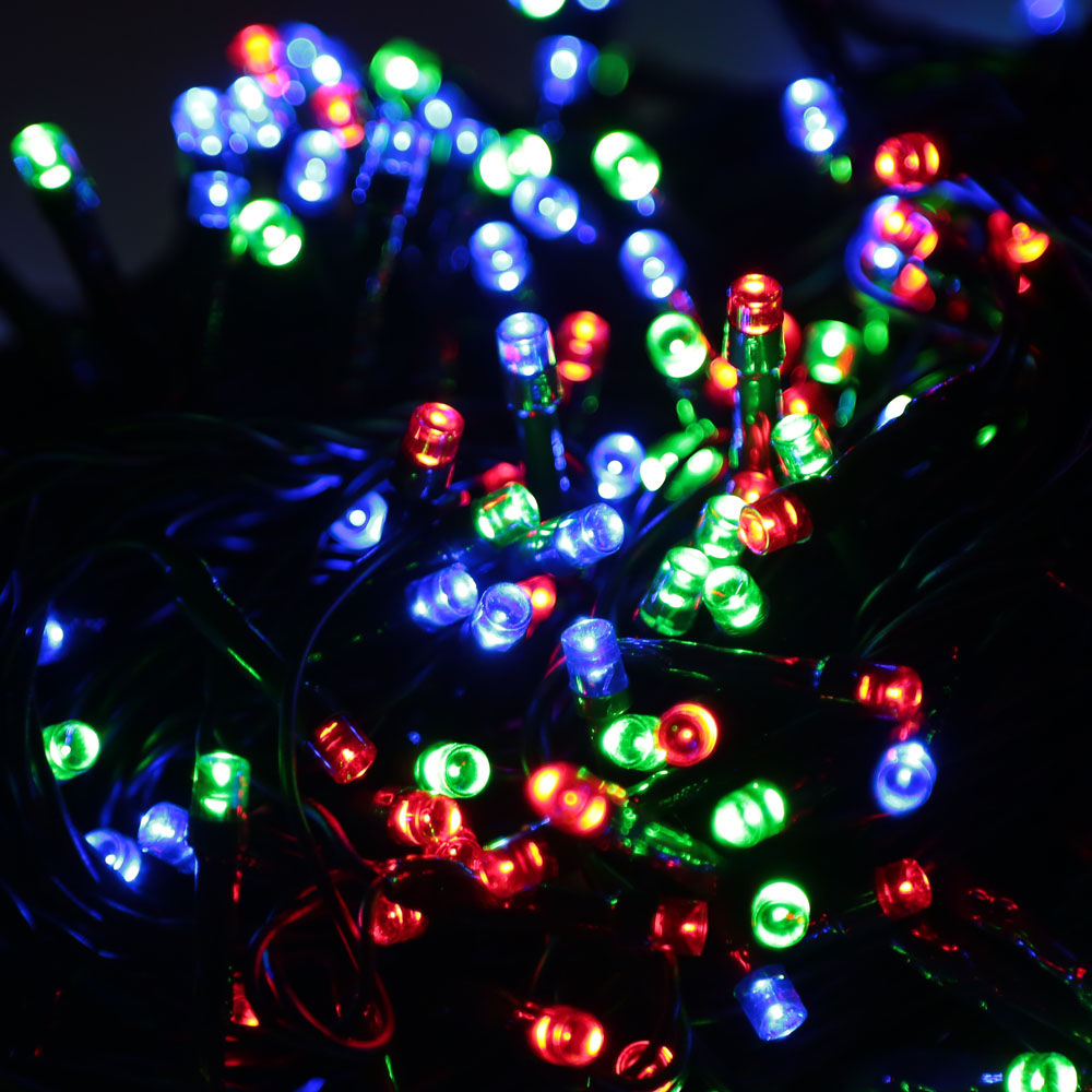 rgb 500 led christmas string light outdoor decoration fairy xmas tree