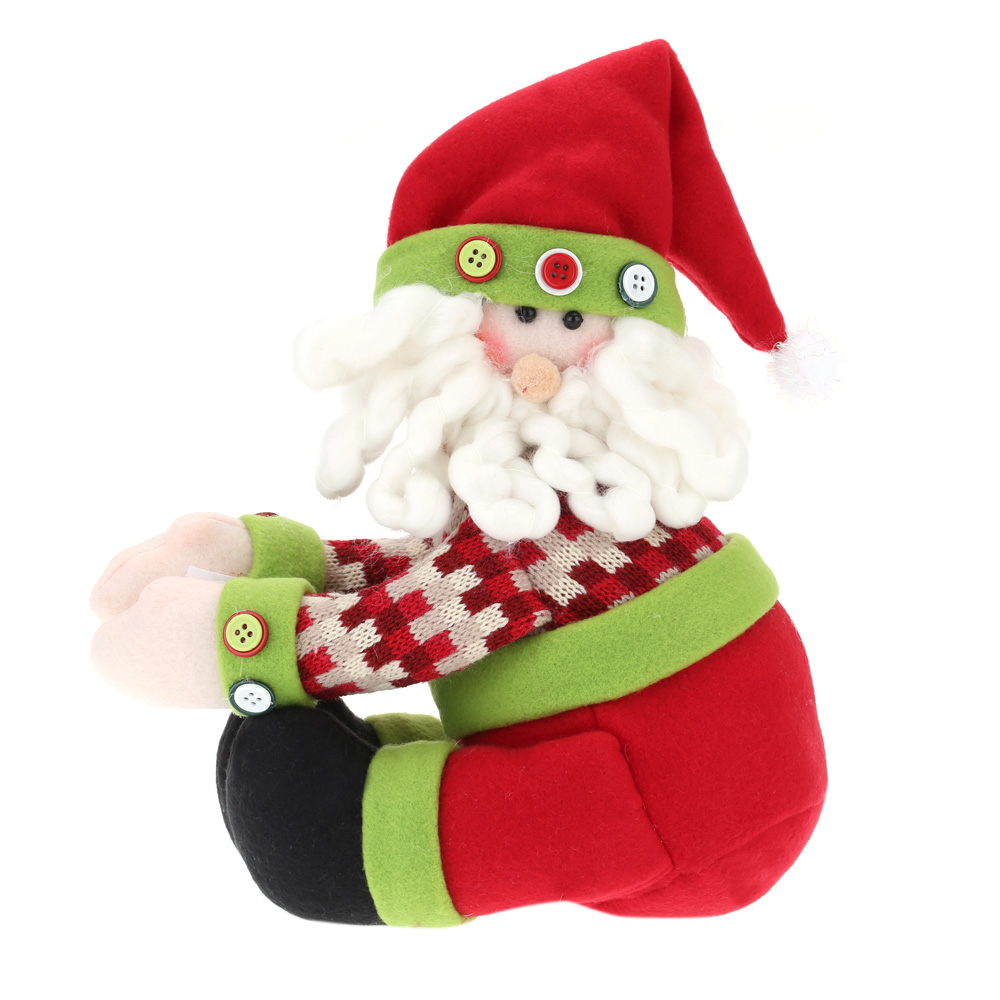 Hot Sale Lovely Decors for Winebottle Cover Doll Wine Bottle Decorate Christmas Santa Cover Decoration H16006-1