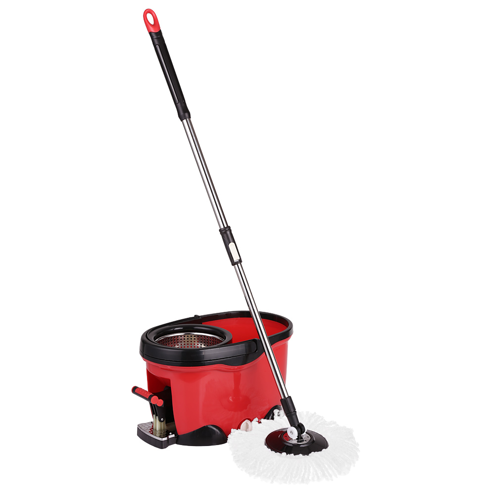 Stainless Steel Mop : Stainless Steel 360?Rolling Spin Mop and Bucket Set 2 Microfiber Mop ...