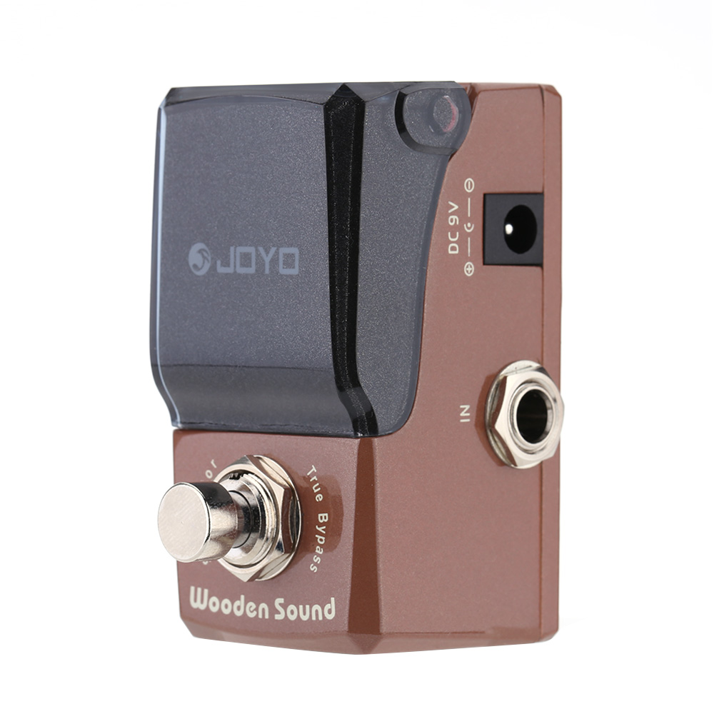 JOYO JF-323 Wooden Sound Acoustic Simulator Mini Electric Guitar Effect Pedal with Knob Guard True Bypass I1313