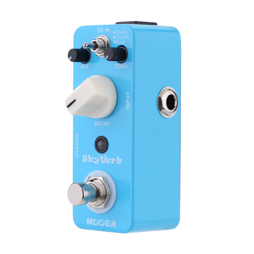 Mooer Sky Verb Micro Mini Reverb Effect Pedal for Electric Guitar True Bypass I1476