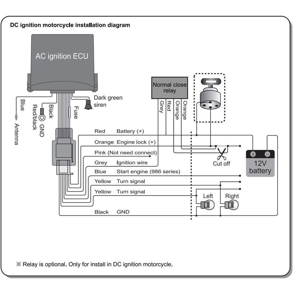 Steelmate 886t 1 Motorcycle Alarm System Remote Control Engine Urbanventura 171049244 2017 12 Sale P on Car Audio System Wiring Diagram