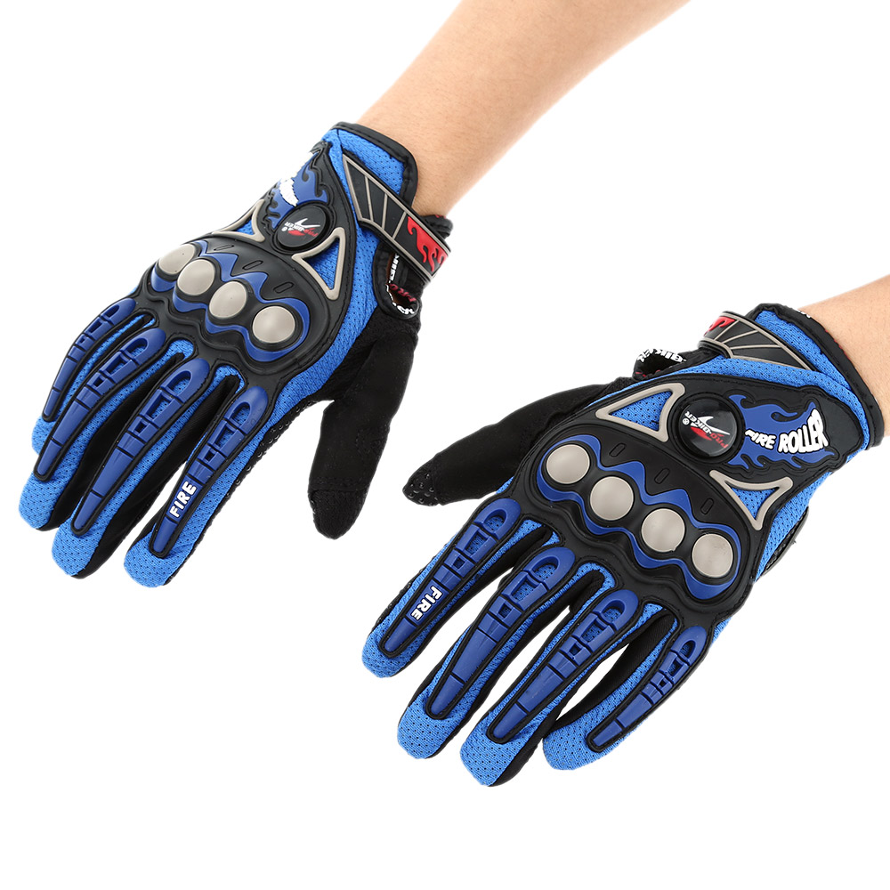 Pro-biker Full Finger Motorcycle Cycling Racing Riding Protective Gloves M L XL-TOMTOP K2896BL-L