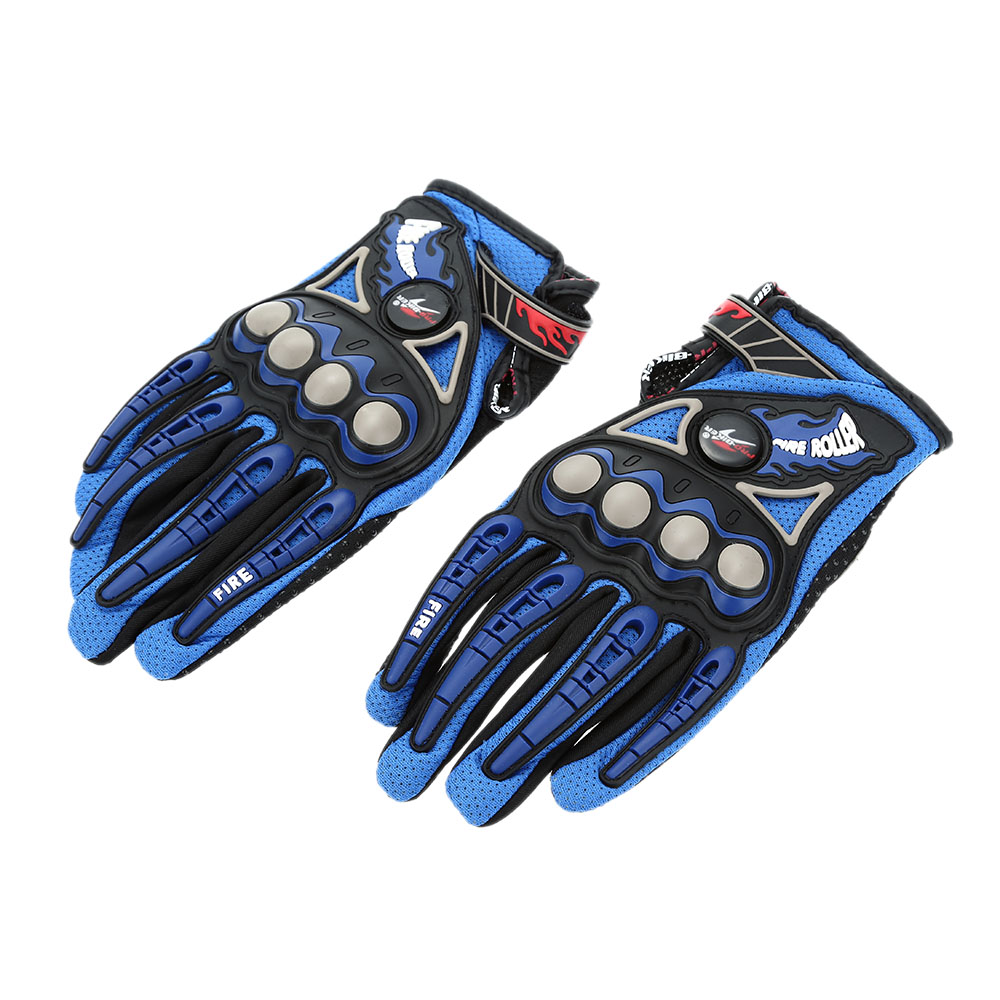 Pro-biker Full Finger Motorcycle Cycling Racing Riding Protective Gloves M L XL-TOMTOP K2896BL-XL