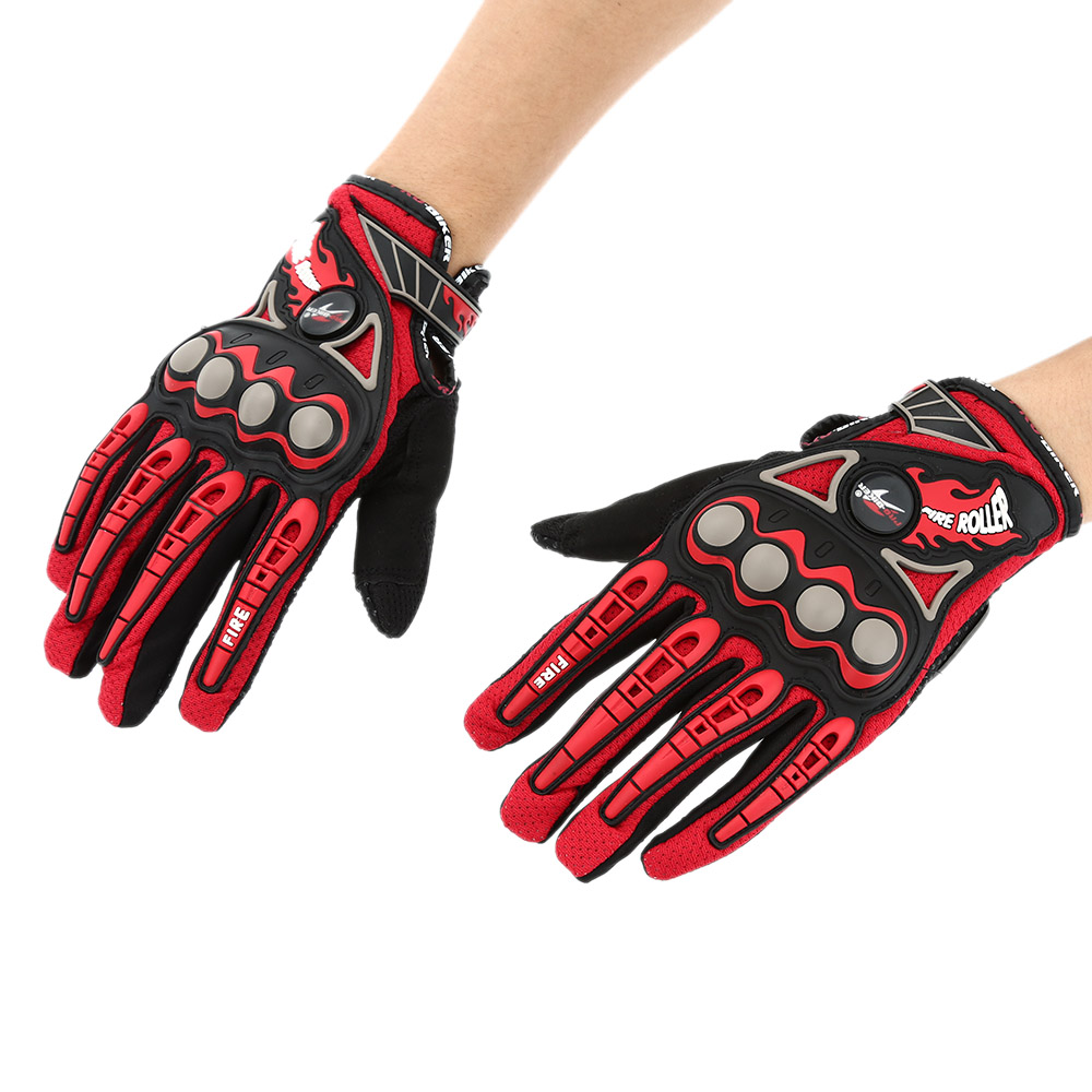 Pro-biker Full Finger Motorcycle Cycling Racing Riding Protective Gloves M L XL-TOMTOP K2896R-L