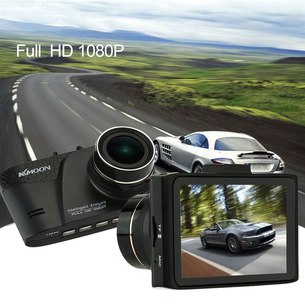 Kkmoon 1080P FHD Car DVR Video Recorder Dash Camcorder HDMI G-sensor Vehicle Camera