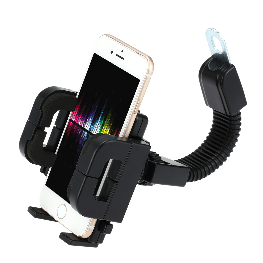 360 Degree Rotation Motorcycle Phone Holder Shock Resistant Motorbike Scooter Stand Mount Bracket for Mobile Phone GPS PDA for iPhone for Samsung