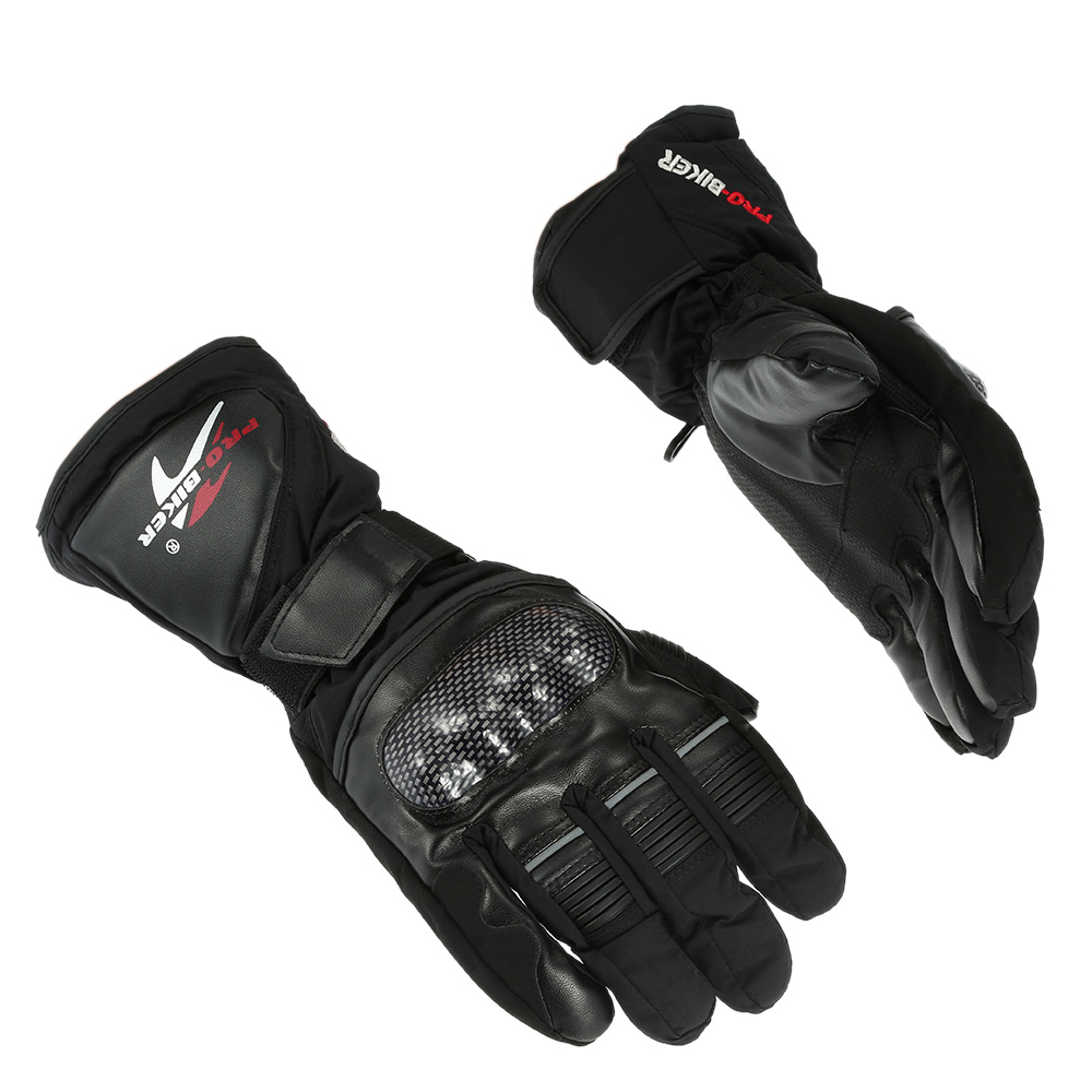 Pro-biker Breathable Full Finger Motorcycle Cycling Racing Riding Skiing Protective Gloves Built-in Lining Water Resistant Windproof Keep Warm Glove K3392B-L