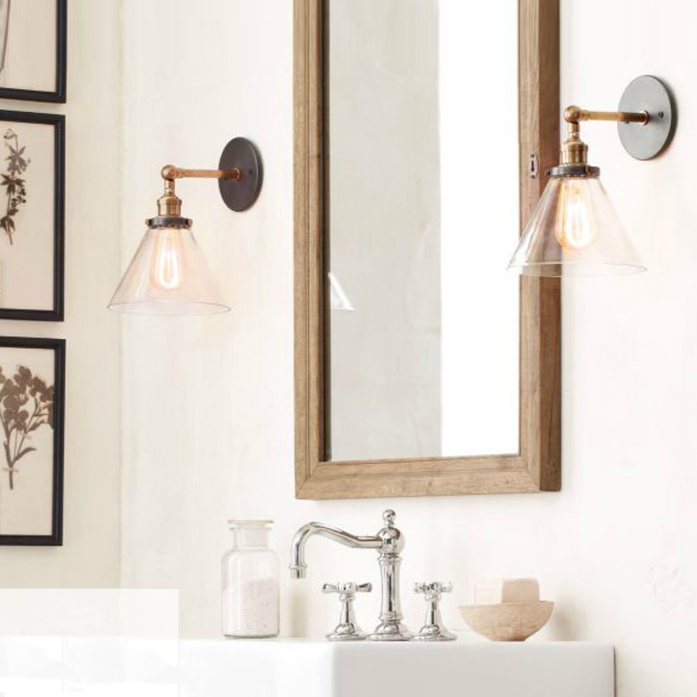 wall sconces rustic country wall lamps retro mounted wall bedroom. Black Bedroom Furniture Sets. Home Design Ideas