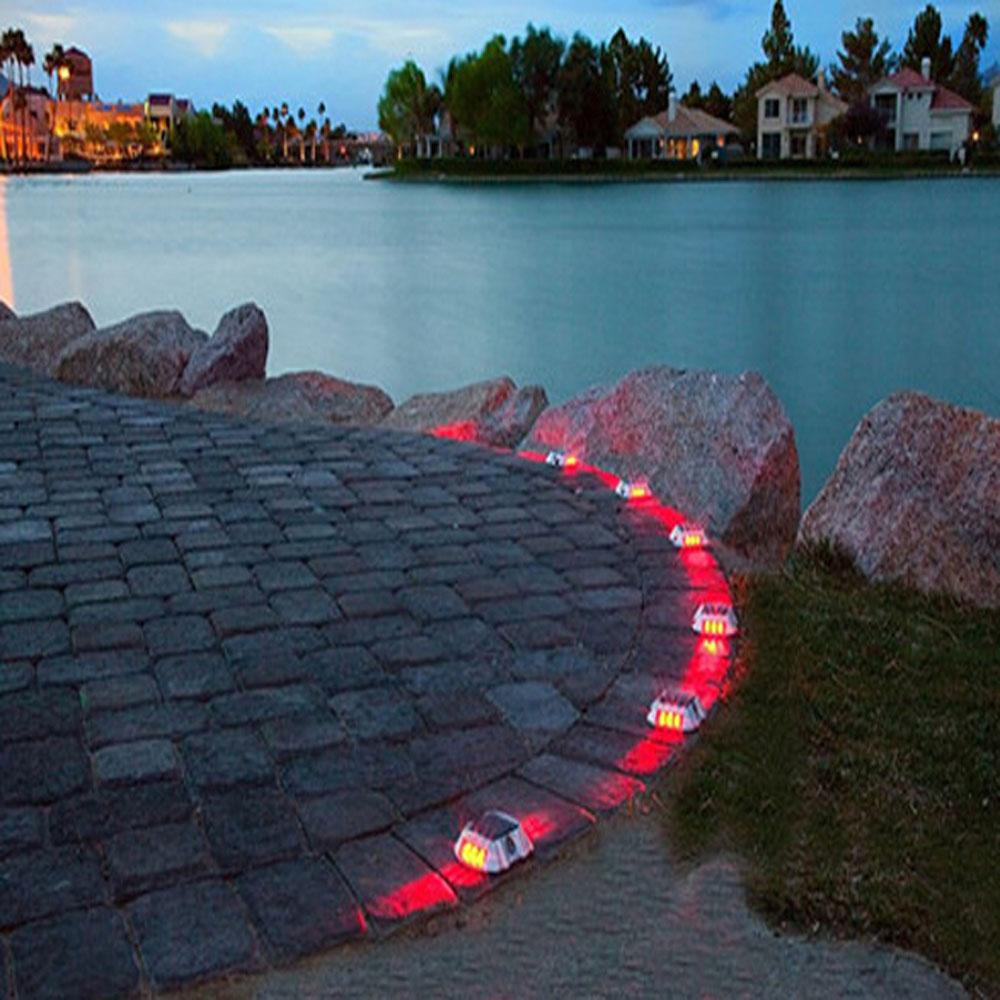 Driveway Lights B Q: 6 Pack Solar LED Pathway Driveway Lights Dock Path Step