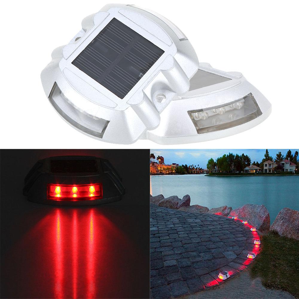 6 Pack Solar Led Pathway Driveway Light Dock Path Step