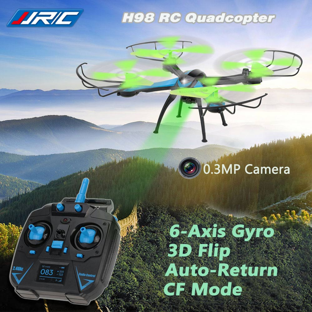 Original JJRC H98 2.4G 4CH 6-Axis Gyro RC Quadcopter with 0.3MP Camera 3D Flip Auto-Return CF Mode Function