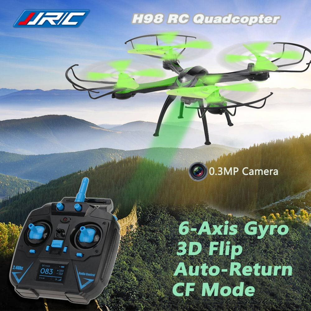 Original JJRC H98 2.4G 4CH 6-Axis Gyro RC Quadcopter with 0.3MP Camera 3D Flip Auto-Return CF Mode Function RM4247GR