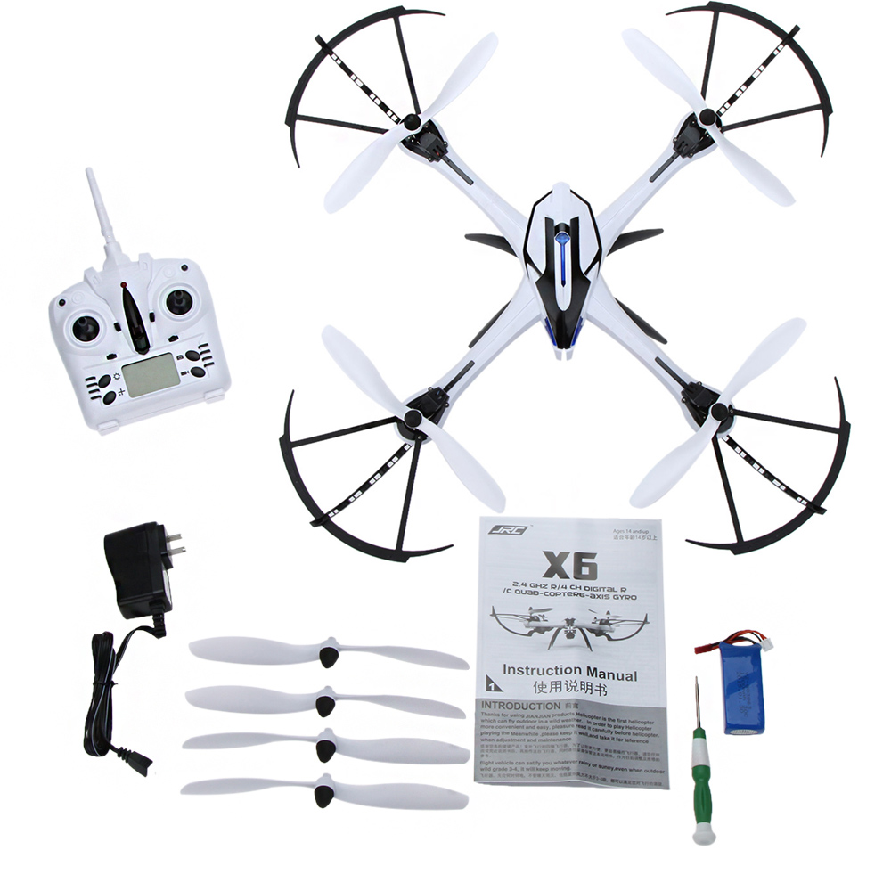 JJRC H16 H16-1 X6 2.4G 4CH 6-Axis Gyro Super Power RC Quad-copter CF Mode Orientation Mode RTF Drone without Camera