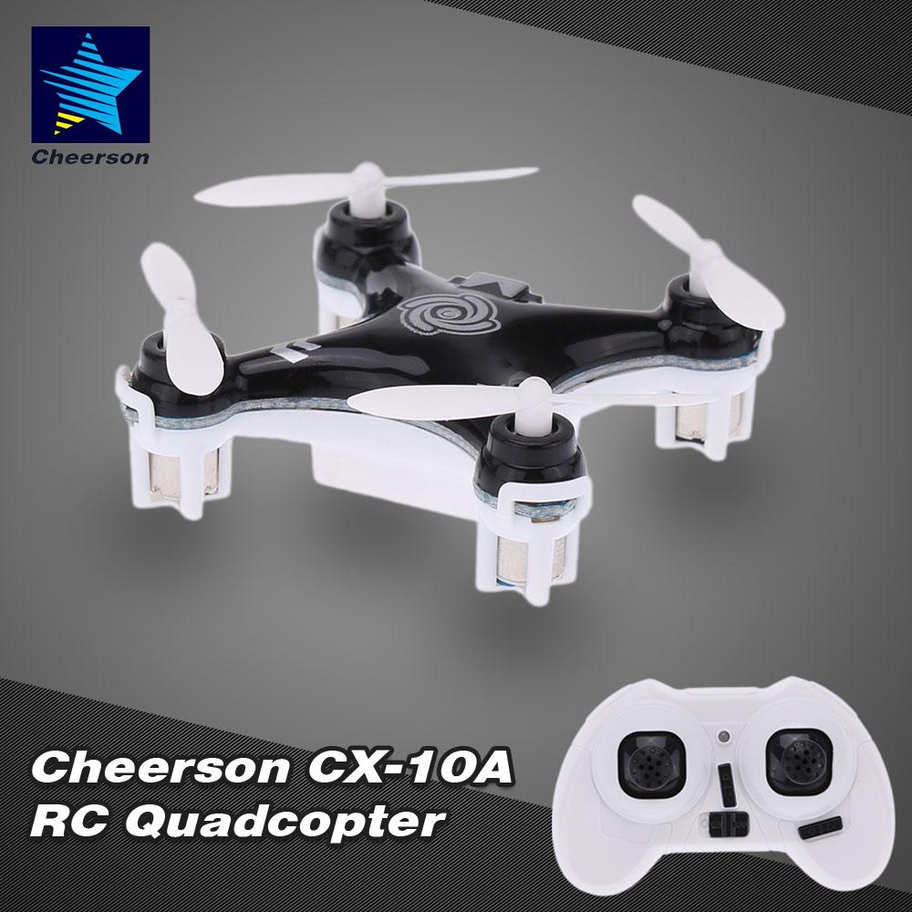 Cheerson CX-10A 2.4GHz 4CH RC Quadcopter NANO Drone UFO with Headless Mode