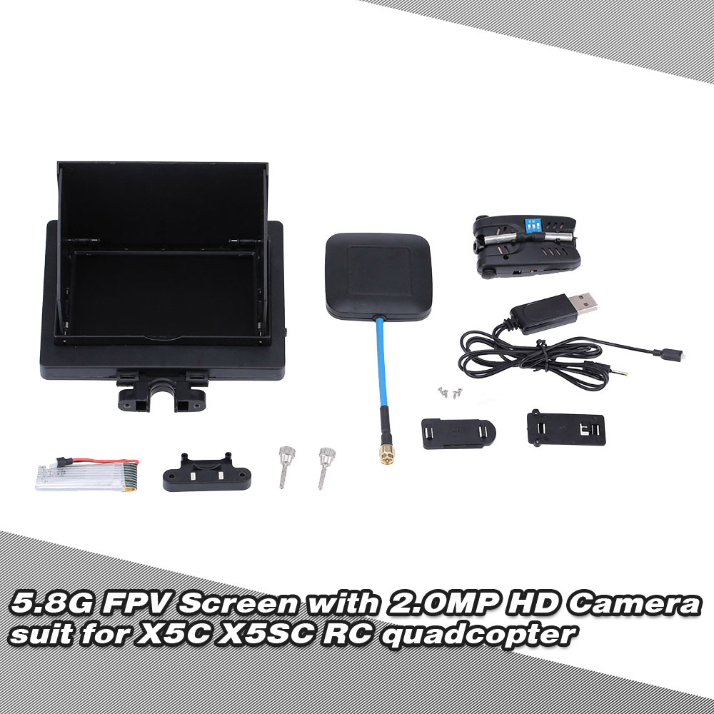 "5.8G 8CH 4.3"" FPV Real-time Transmission Display Screen with 2.0MP HD Camera for SYMA X5C X5SC RC Quadcopter"