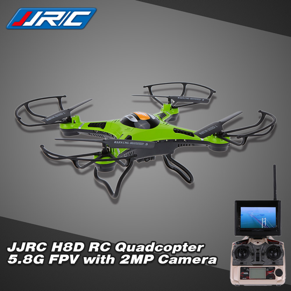 Original JJRC H8D 5.8G FPV RTF RC Quadcopter Headless Mode/One Key Return Drone with 2.0MP Camera FPV Monitor LCD RM3749GR-EU