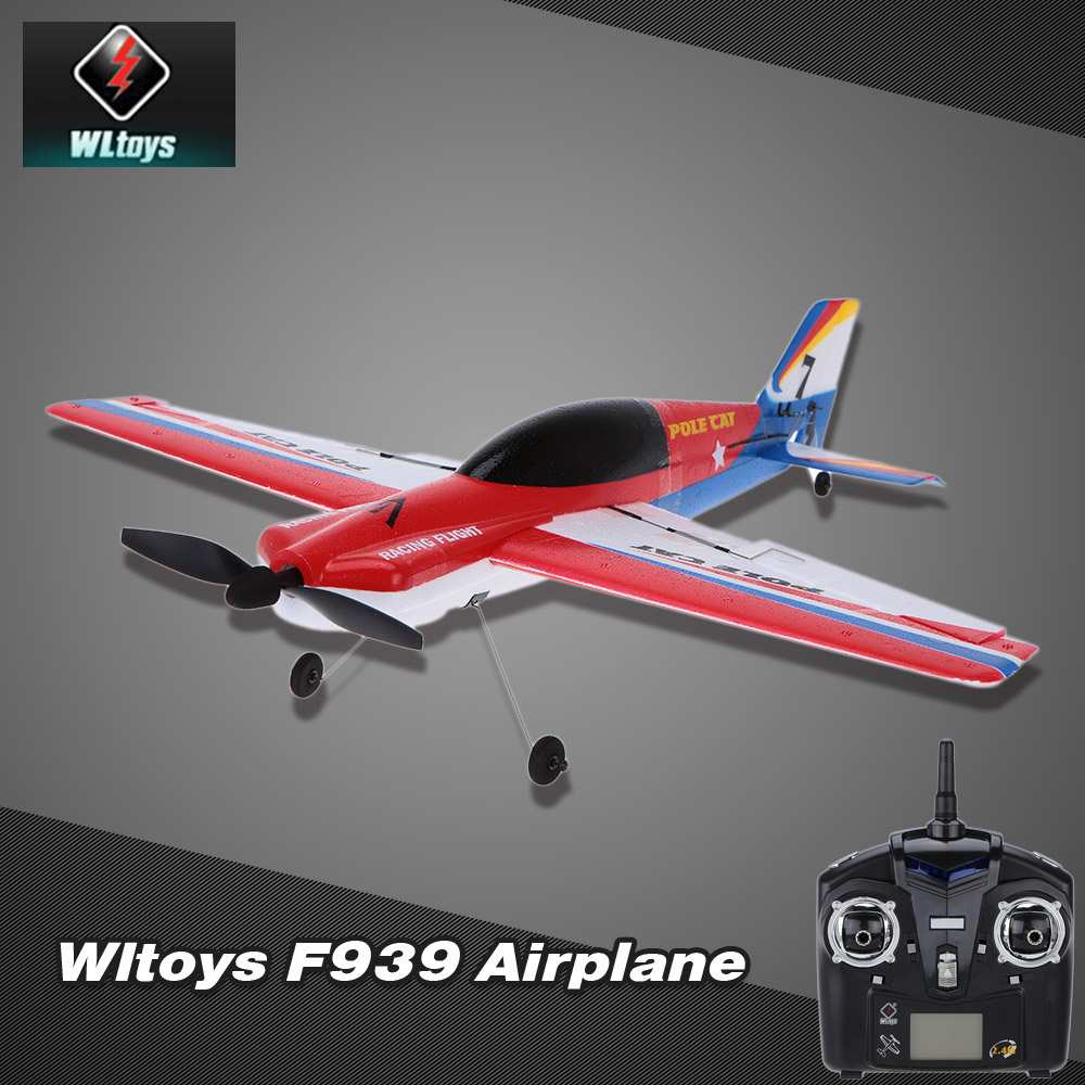 Original Wltoys F939 Upgraded Version 2.4G 4CH Airplane Remote Control Plane Outdoor Toys