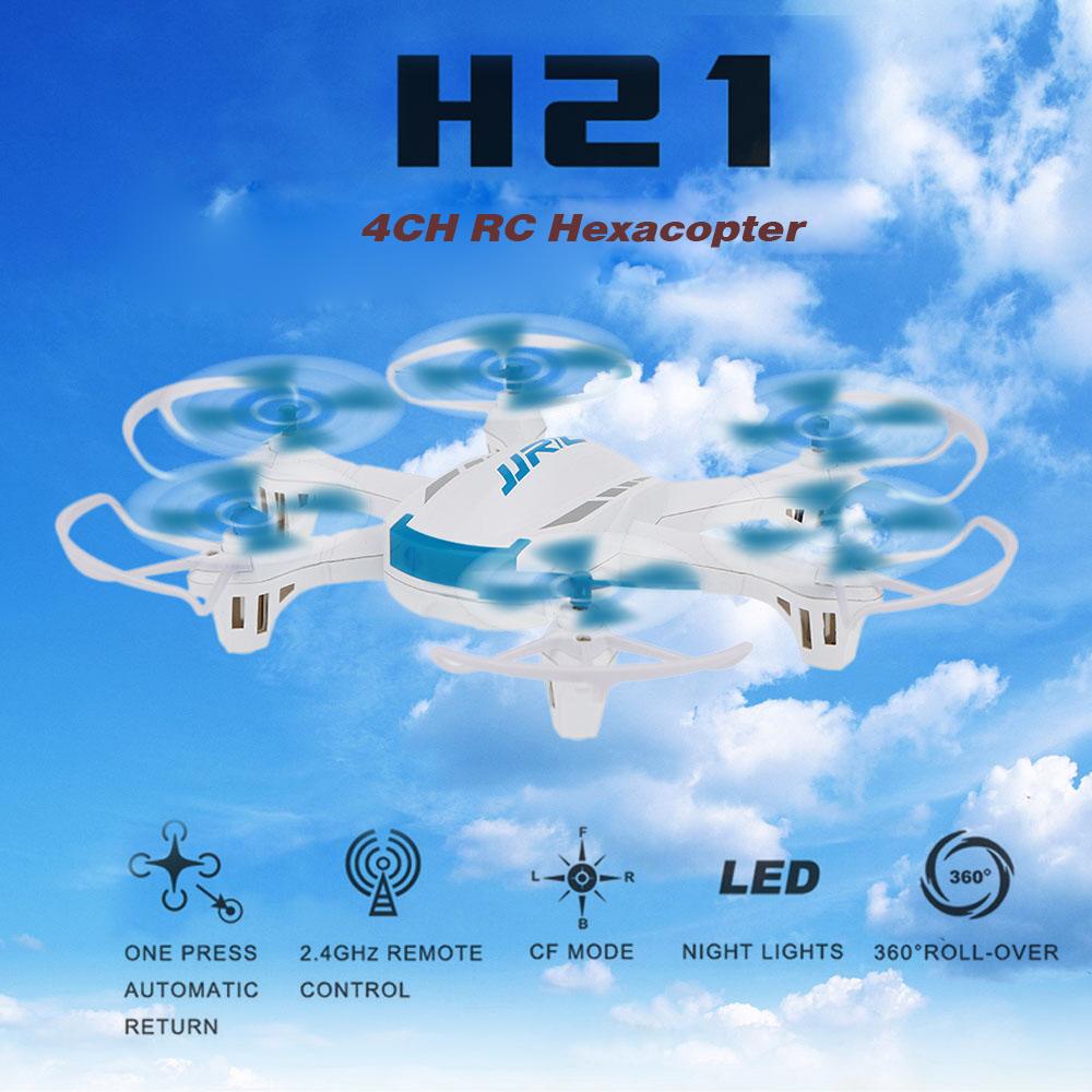 Original JJRC H21 2.4G 4CH 6-Axis Gyro RTF Drone 3D Flip CF Mode One Key Return RC Hexacopter