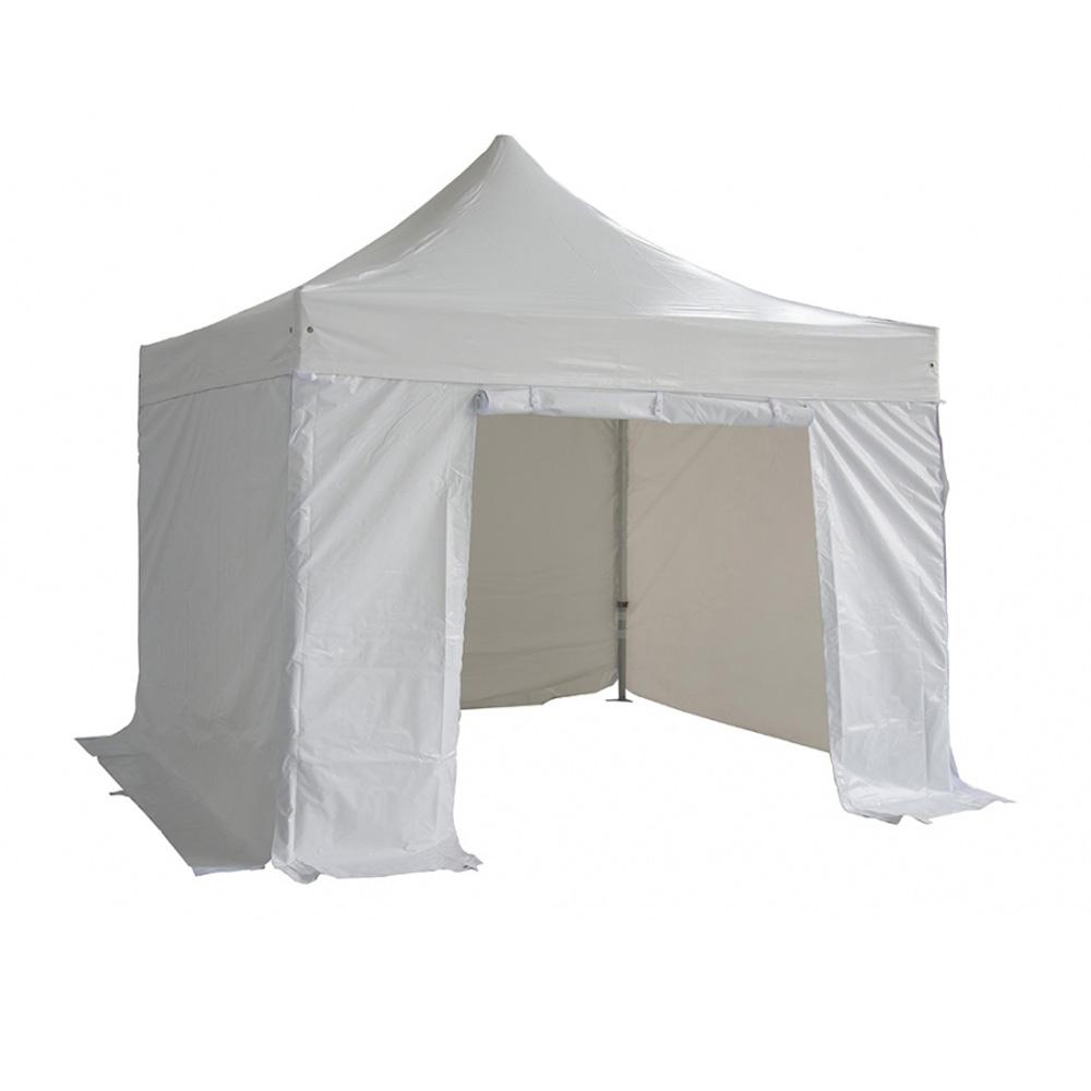 White Folding Tent 520g/m2 PVC 3X3m 50mm Aluminium Tube + 4 Pieces of Side Cloth TP3350-PA-BU