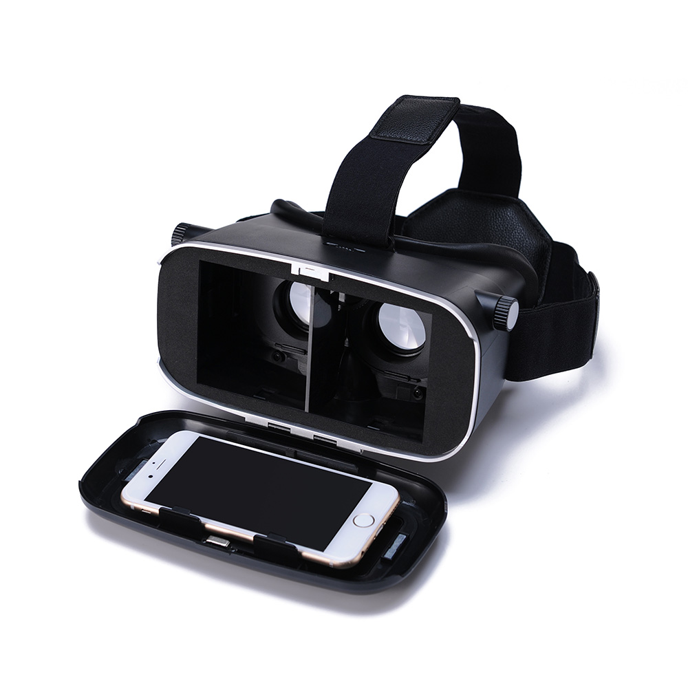 "Andoer CST-09 Version 3D VR Glasses Virtual Reality DIY 3D VR Video Movie Game Glasses Head Mount with Headband for iPhone Samsung / All 4.0 ~ 6.0"" S V1331"