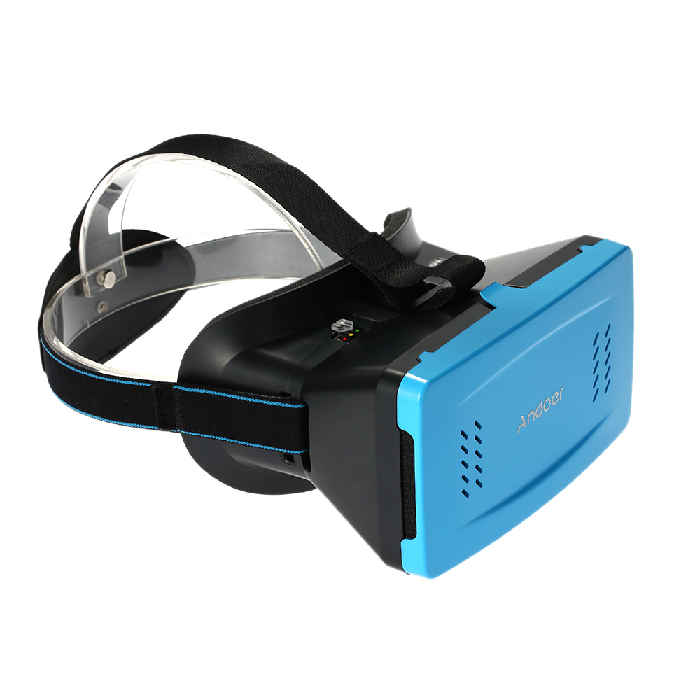 """Andoer Portable Plastic Version 3D VR Glasses Virtual Reality DIY 3D Video VR Glasses with Magnetic Switch Hand Belt for All 3.5 ~ 5.5"""""""" Smart Phones For iPhone 6 6Plus Samsung S6 S5 Note 4 3 HTC LG"""" V1505BL"""