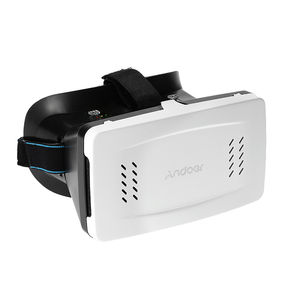 "Andoer Portable Plastic Version 3D VR Glasses Virtual Reality DIY 3D Video VR Glasses with Magnetic Switch Hand Belt for All 3.5 ~6"" Smart Phones For V1505W"