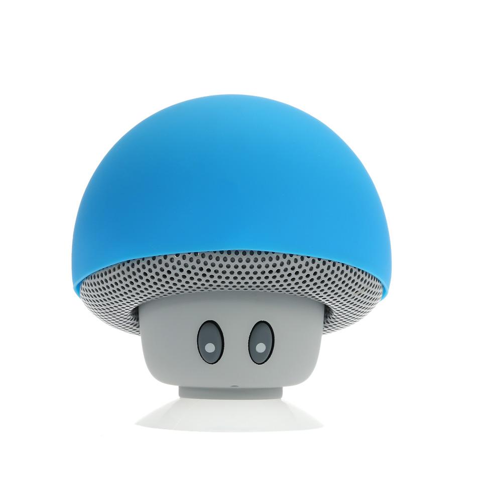 Bluetooth Stereo Speaker Wireless Bluetooth Mushroom Loudspeaker with Mic Sucker Design Stand Speaker Green Indoor & Car Use for iPhone 6S 6S Plus 6
