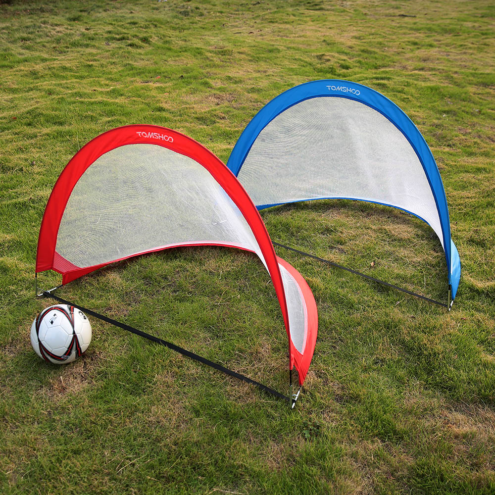 pair of pop up soccer goal portable soccer nets with carry. Black Bedroom Furniture Sets. Home Design Ideas