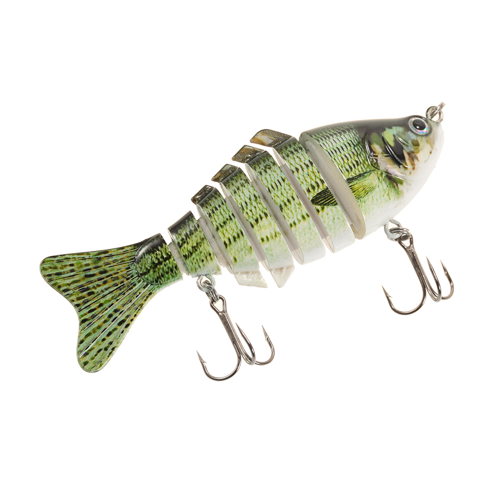 Multi jointed fishing lure bait bass perch walleye roach for Perch fishing lures