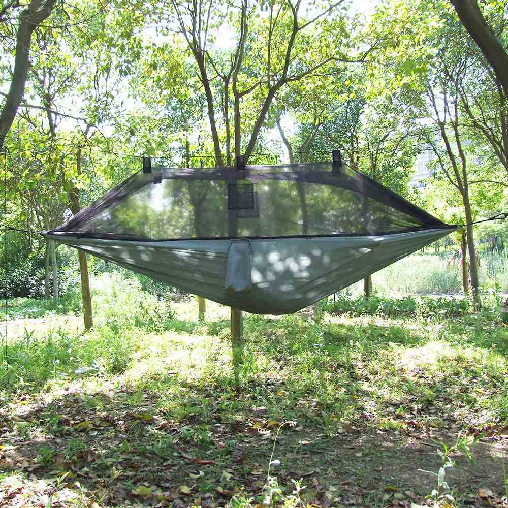 Lixada hammock tree 1 person patio bed swing outdoor with for Outdoor hanging beds for sale