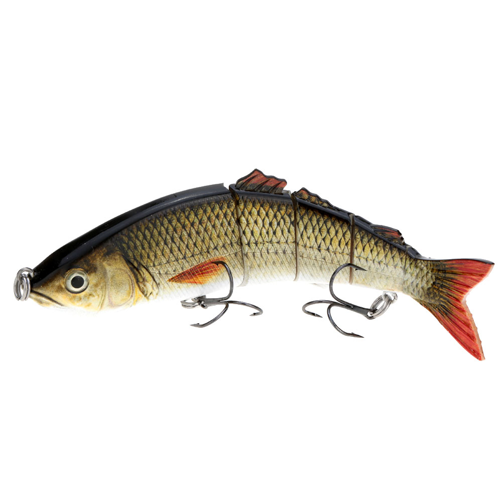 """8.5"""" Life Like Hard Bait Multi Jointed Segmented Section Fishing Lure with Treble Hooks Y1343BR"""