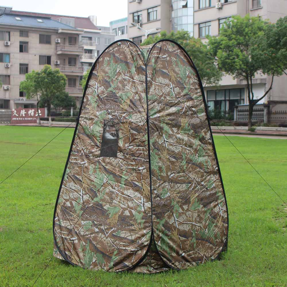Portable Privacy Shower Toilet Tent Camping Pop Up Tent Camouflage Changing Tent