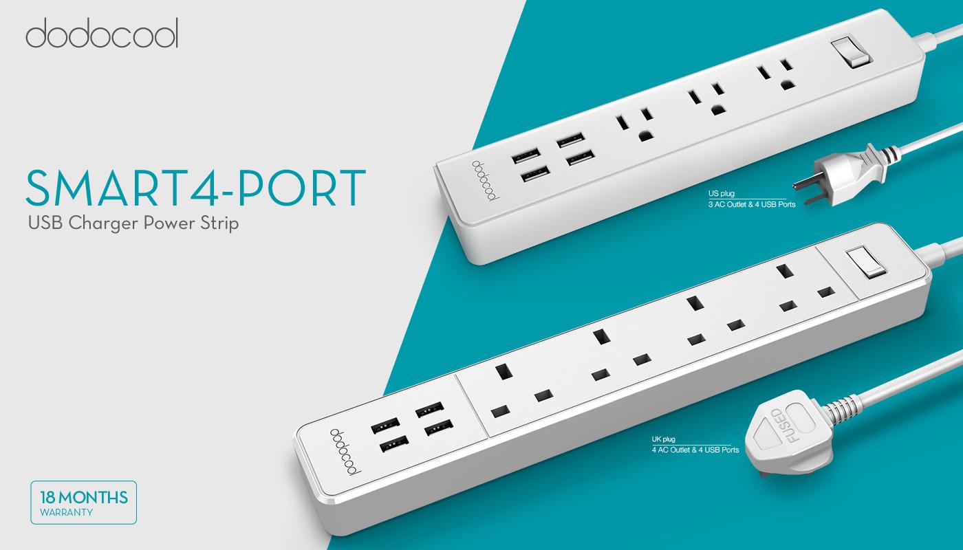 3 ac outlet surge protector power strip w 4 port usb charger us plug b6f8 ebay. Black Bedroom Furniture Sets. Home Design Ideas