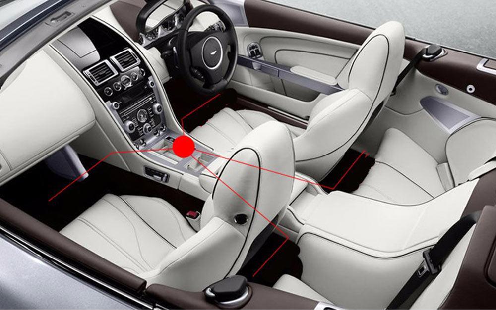 wireless remote music voice control interior atmosphere light bar car floor dash led. Black Bedroom Furniture Sets. Home Design Ideas