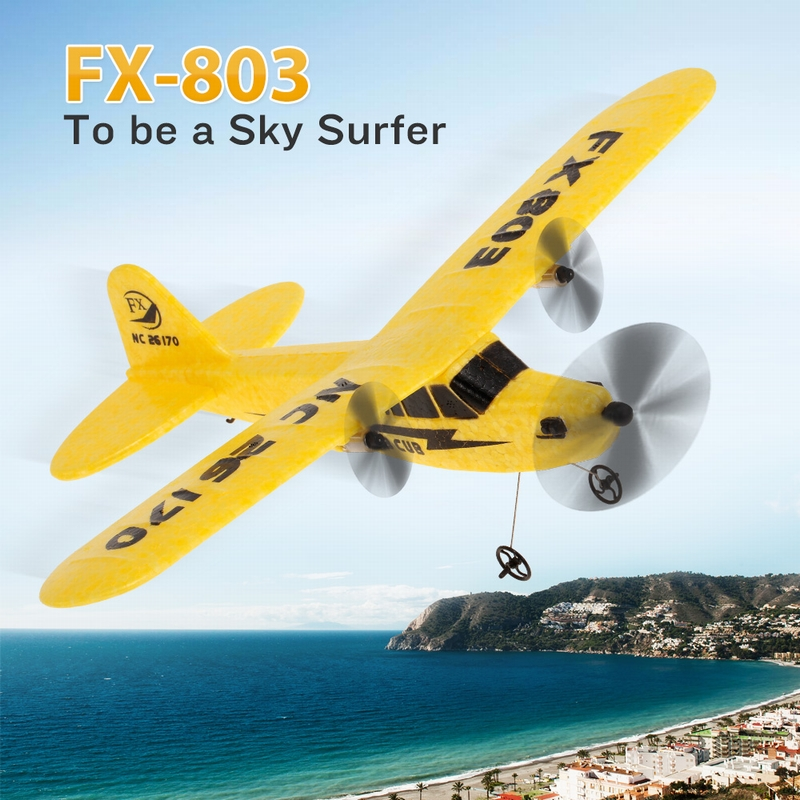 FX-803 2.4G 2CH RC Glider Fixed Wing Airplane RTF – 340mm Wingspan