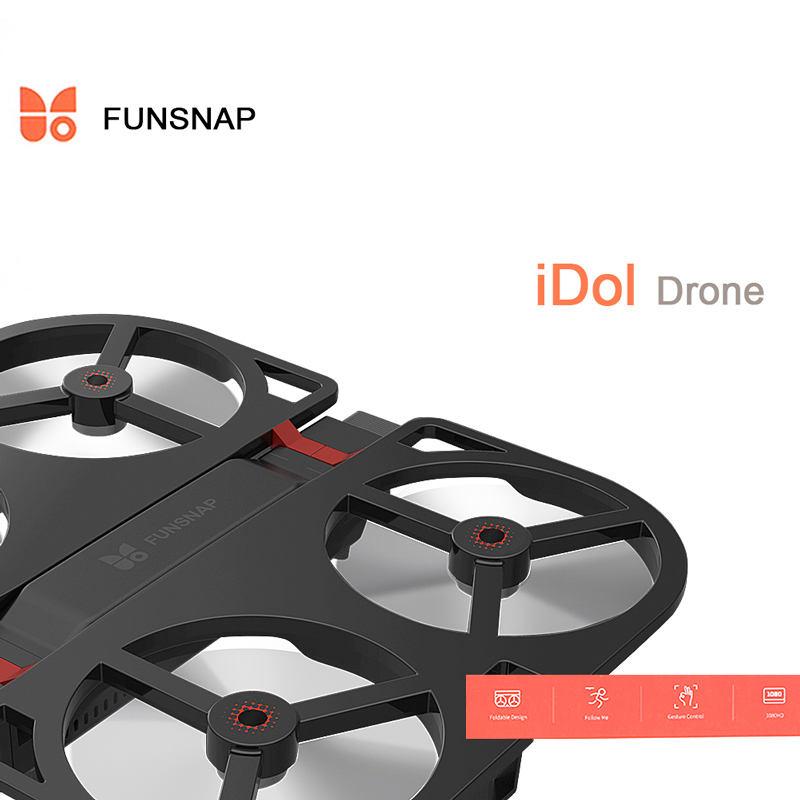 Funsnap iDol GPS 1080P Brushless Motor RC Drone Quadcopter BNF – APP Control/ AI Gesture/ 1080P 120°Pitch Camera/ Wifi FPV/ Optical Flow Positioning/ Altitude Hold/ Without Controller
