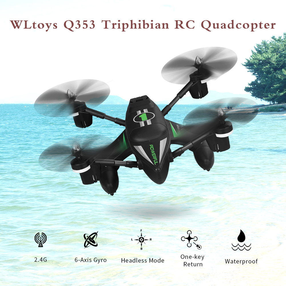 Exrta 5% Off For WLtoys Q353 Triphibian RC Drone