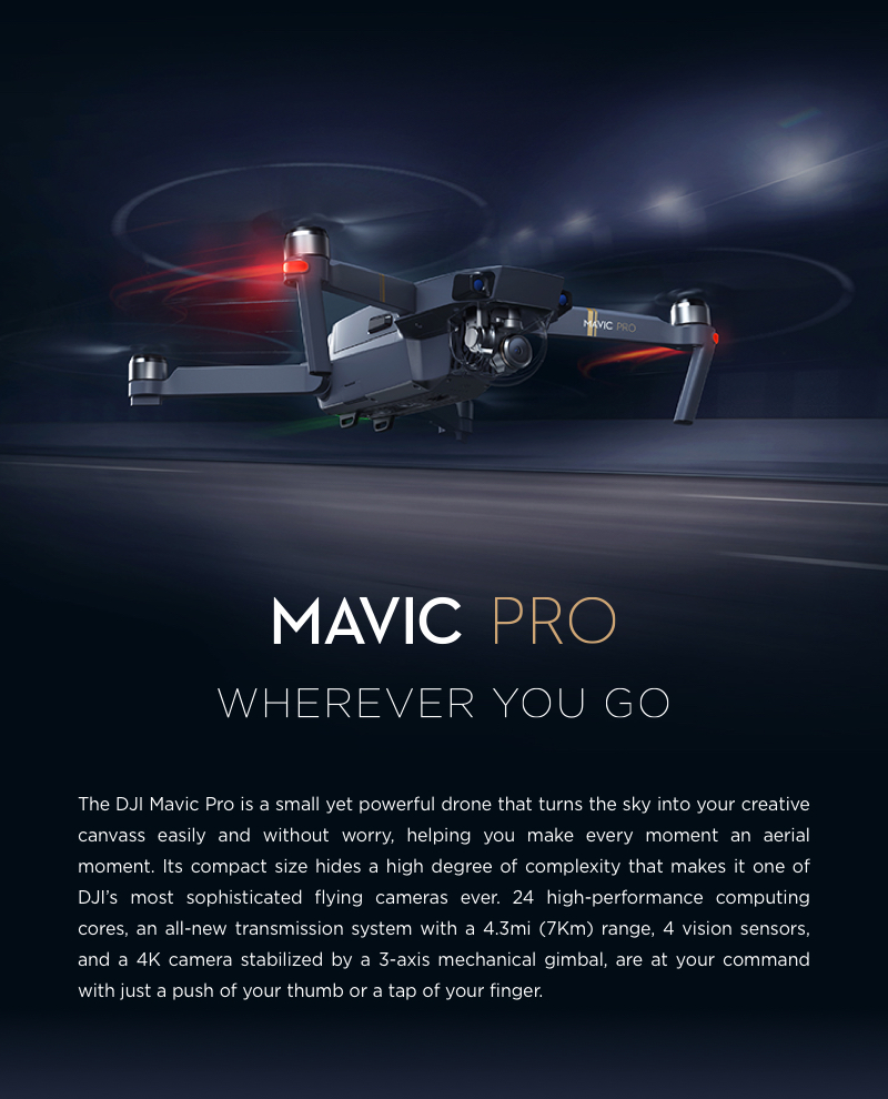 $230 Off DJI Mavic Pro Foldable Obstacle Avoidance Drone FPV RC Quadcopter Fly More Combo,free shipping $1169