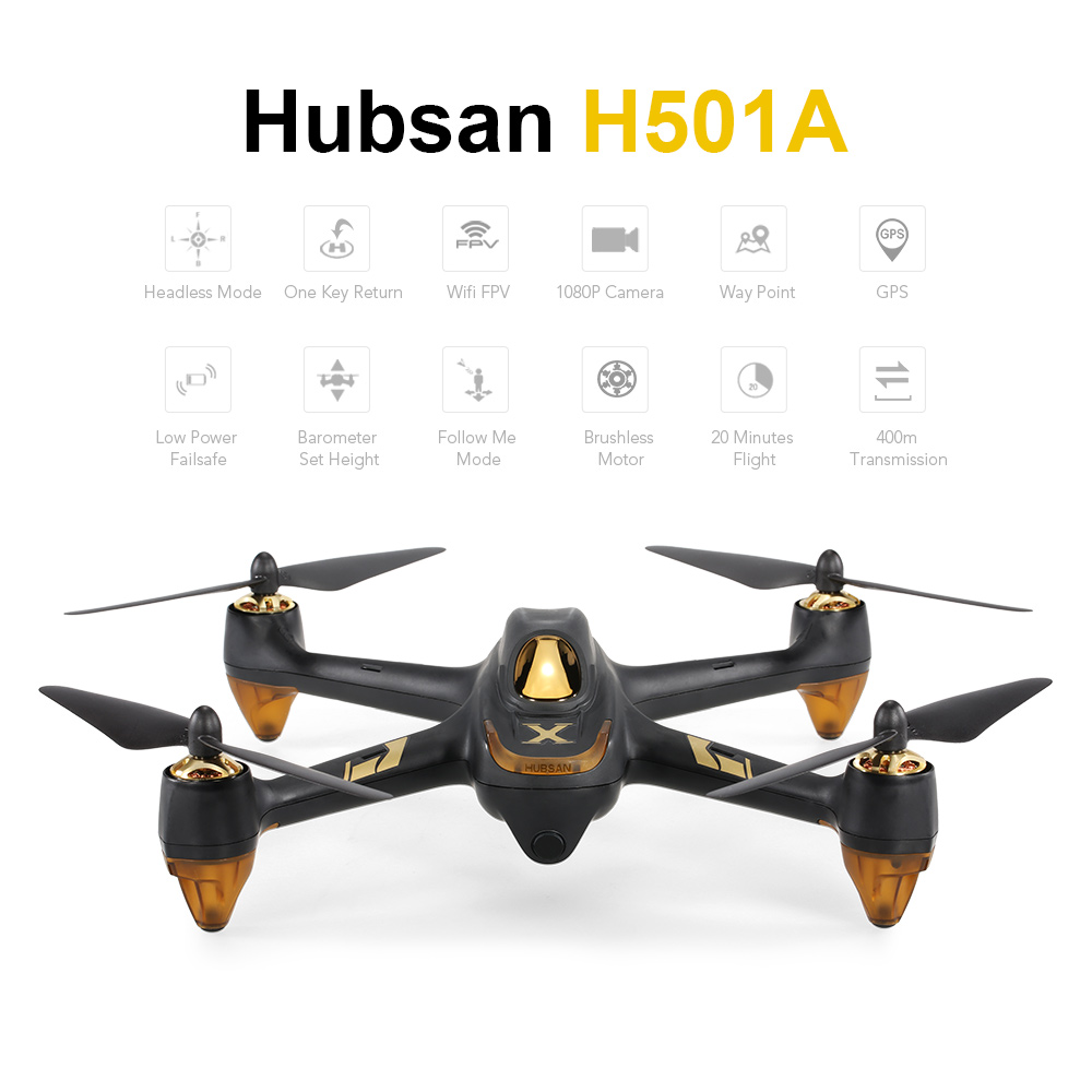 $11 Off Hubsan H501A X4 Air Pro Wifi FPV Brushless RC Quadcopter,free shipping $208.99