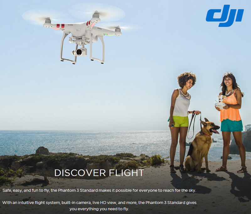 $70 Off DJI Phantom 3 Standard RC Quadcopter,free shipping $399.99
