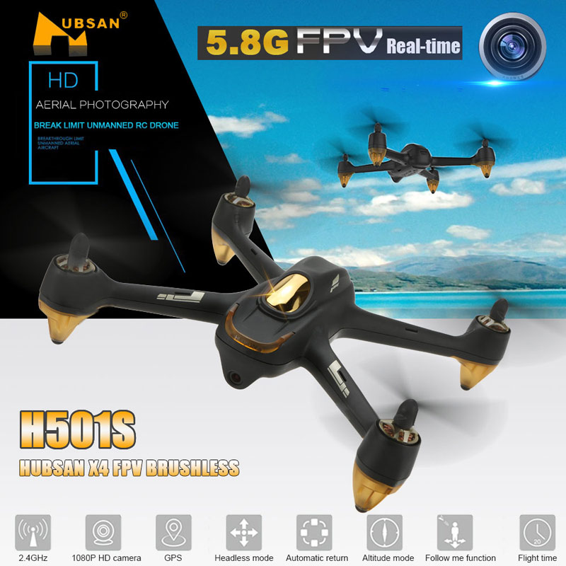 $20 Off Hubsan H501S X4 Brushless Drone RC Quadcopter,free shipping $189.99
