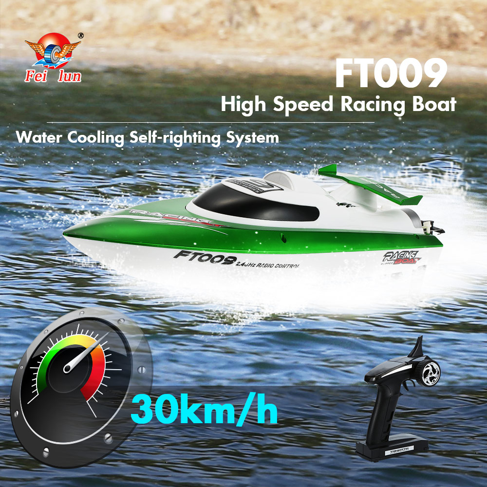 $9 Off Feilun FT009 30km/h High Speed RC Racing Boat - Green,free shipping $32.99
