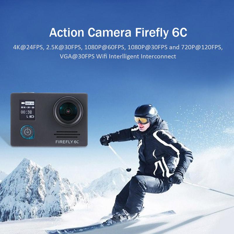 Hawk Eye Firefly 6C 4K 24FPS Extreme Sport Shooting Camera
