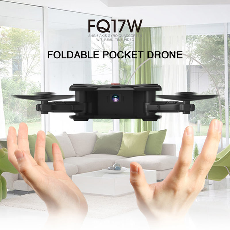 Exrta 5% Off For FQ777 FQ17W Foldable Pocket Drone with 0.3MP Camera