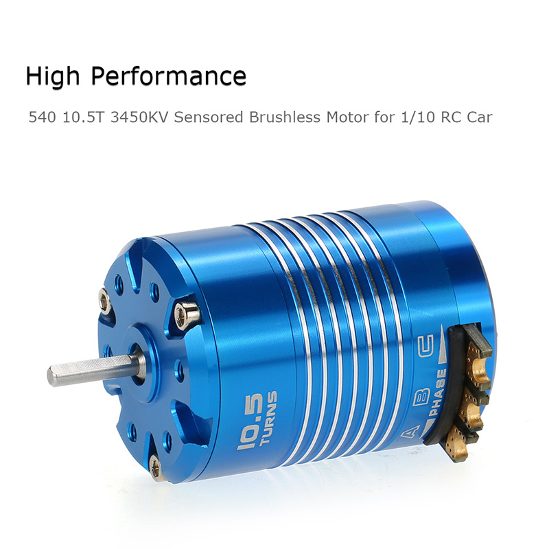 high performance 540 10 5t 3450kv sensored brushless motor